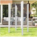 Garten-Dusche Breuer Exo 3-seitig 95 x 200 cm mit Pendeltür Klarglas Profil weiß