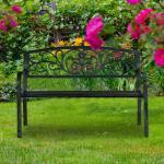 Gartenbank Hansa aus Stahl und Gusseisen