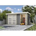 Gartenhaus Karibu Elmar 404 x 217 cm terragrau