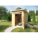 Skandinavische Weka Gartenartikel aus Fichte mit Flachdach