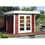Gartenhaus weka Designhaus 126+ Gr. 1 mit Fußboden 295 x 210 cm rot