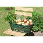 Gartenkorb 15 kg grün oval, mit Doppelklappbügel