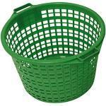 Gartenkorb Vielzweckkorb Kunststoff grün bis 15, 20 & 25kg, Maße:Ø 46 cm. Höhe 31 cm