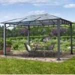 Gartenpavillon Hardtop Sunset Deluxe, 3x4m Pavillon