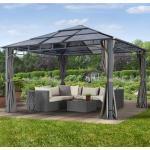 Gartenpavillon Hardtop Sunset Deluxe, loft grey, 4x4m Pavillon
