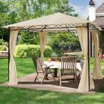 Gartenpavillon Rendezvous Classic champagnerfarben, 3x3m Pavillon