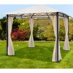 Gartenpavillon Rendezvous Premium champagnerfarben, 3x3m Pavillon