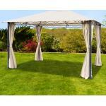 Gartenpavillon Rendezvous Premium champagnerfarben, 3x4m Pavillon