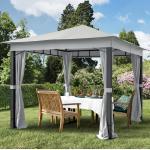 Gartenpavillon Sunset Premium stone, 3x3m Pavillon