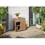 Gartenschrank Lewiston 1-türig FSC®-Akazien-Holz 70 cm x 80 cm