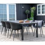 Gartensitzgruppe in Grau und Schwarz Kunststoffstühlen (7-teilig)
