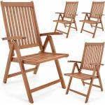 Gartenstuhl Vanamo FSC®-zertifiziertes Eukalyptus Holz klappbar Klappstuhl Hochlehner Klappstühle Klappsessel Gartenmöbel 4er Set - Deuba
