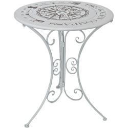 Gartentisch »Bayo« rund Ø 60 cm weiß, Garden Pleasure, 60x70x60 cm