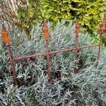 Gartenzaun Royal Edelrost ca. 49 cm