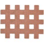 Gatapex Akupunktur-Pflaster Gitter 2,8 x 3,6 cm - 120 Stück - HAUTFARBE