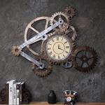 Gear Wanduhr, DZW Industrial Style Eisen Material Kreative Uhr Ornamente Bar Cafe Wand Weiche Dekorationen