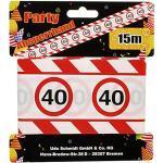 Geburtstags Absperrband 40 Jahre Party Deko Verkehrsschild Länge 15m