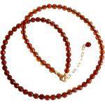 Gemshine - Damen - Halskette - Vergoldet - Bernstein - Facettiert - Gelb - Orange - 45 cm