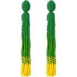 Gemshine Paar Ohrhänger »Quasten im Farbverlauf Grün Gelb«