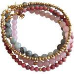Gemshine Perlenarmband »ROSE DREAM Set Aquamarin, Rosenquarz«, Made in Germany