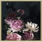 Gerahmtes Bild Barock flowers IV 53x53cm