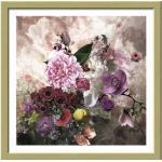 Gerahmtes Bild Baroque Flowermix II 33x33 cm