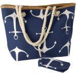 Gerimport strandtasche mit Brieftasche 48 x 33 cm Polyester blau