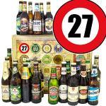 Geschenk Idee 27. Mann / 24x Biere DE und Welt/Geschenk 27ter Geburtstag/Adventskalender Bier