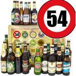 Geschenk Idee 54. Mann/Bier aus der Welt und DE/Geschenk 54 Geburtstag/Adventskalender Bier