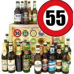 Geschenk zum 55. für Ihn / 24 Biere Welt und DE/Geschenke 55. Geburtstag Bier/Adventskalender Bier 2019