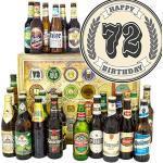 Geschenk zum 72. / 24x Biere DE und Welt/Geschenke 72. Geburtstag für Mann/Adventskalender Bier 2019