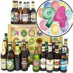Geschenk zum 94. / Bier Paket Welt und DE/tolle Geschenke zum 94 Geburtstag/Bier Adventskalender
