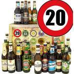 Geschenkideen 20. / 24 x Bier Welt und DE/Geschenke 20. Geburtstag für Ihn/Adventskalender Bier