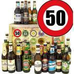Geschenkideen 50. / 24 x Bier Welt und DE/Geschenke Geburtstag Bier/Bier Geschenk Adventskalender