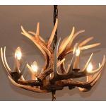 Geweih Kronleuchter mit Antler Decken Leuchte lampe/luster antike Schlafzimmer Lichter Korridor Vintage-Stil Harz Hirsch Horn, 4 Lichter