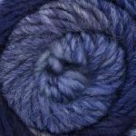 ggh Joker   Schurwolle Mischung   50g Wolle zum Stricken oder Häkeln   Dicke Wolle mit Farbverlauf   Farbe 022 - Marine-Jeans-Blau meliert