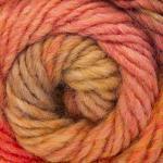 ggh Joker   Schurwolle Mischung   50g Wolle zum Stricken oder Häkeln   Dicke Wolle mit Farbverlauf   Farbe 025 - Koralle-Orange-Rost meliert