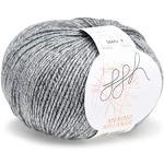 ggh Merino Melange   100% Merinowolle (Superwash)   50g Wolle zum Stricken oder Häkeln Farbe 004 - Hellgrau meliert