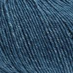 ggh Merino Melange - 100% Merinowolle (Superwash) - 50g Wolle zum Stricken oder Häkeln Farbe 007 - Jeansblau meliert