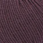 ggh Volante   Merinowolle mit Baumwolle   50g Wolle zum Stricken oder Häkeln   Farbe 002 - Blasses Aubergine