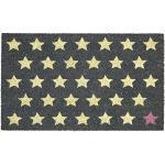 Gift Company - Fußmatte, Kokosmatte, Fußabtreter - Polka Stars Sterne - 75 x 45 cm
