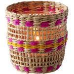 Gift Company Windlicht 10x10x10 cm Boathouse Seegras/Glas natur/pink/gelb