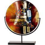 GILDE GLAS art Dekovase »Soleil«, handbemalt mit Fusingglas-Elementen