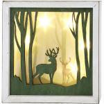 Gilde MDF LED 3D-Bild Hirsche im Wald