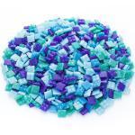 Glas-Mosaik, Blautöne, 10 x 10 mm, 750 g