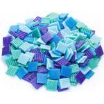 Glas-Mosaik, Blautöne, 20 x 20 mm, 750 g