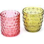 Glas-Windlichter, bunt, 8 - 9 cm, 2 Stück