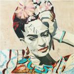 Glasbild Collage No. 1 von Frida Kahlo