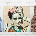 Grüne Frida Kahlo Dekoration