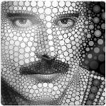 Glasbild Fred bunt Glasbilder Bilder Bilderrahmen Wohnaccessoires